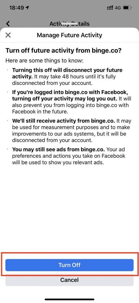 Off Facebook Activity กิจกรรมภายนอกเฟซบุ๊ก Clear History ลบข้อมูล